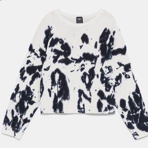 Zara ink tie dye sweater